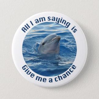 Bóton Redondo 7.62cm Salvar os golfinhos do botão da extinção