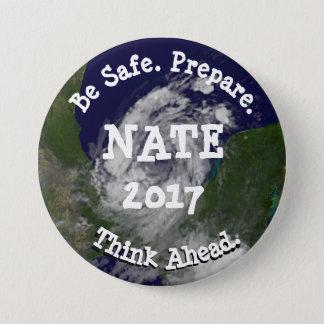 Bóton Redondo 7.62cm Seja botão tropical seguro de Nate do furacão da