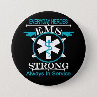 Bóton Redondo 7.62cm Semana do serviço médico da emergência que honra o