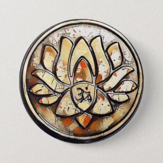 Bóton Redondo 7.62cm Símbolo do OM da ioga