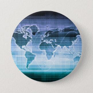 Bóton Redondo 7.62cm Soluções globais da tecnologia