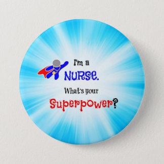 Bóton Redondo 7.62cm Super-herói da enfermeira