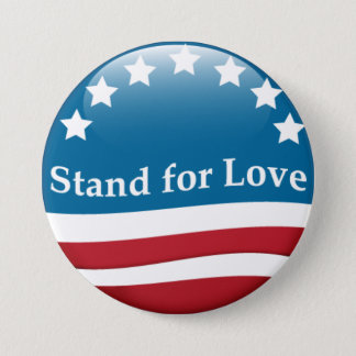 Bóton Redondo 7.62cm Suporte dos EUA para o botão do amor