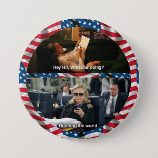 Bóton Redondo 7.62cm Textos Hillary de Obama