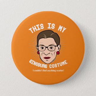 Bóton Redondo 7.62cm Traje de Ruth Bader Ginsburg o Dia das Bruxas - eu
