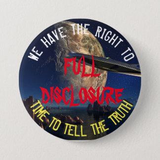 Bóton Redondo 7.62cm UFO e botão de divulgação completo estrangeiro