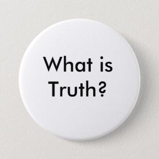 Bóton Redondo 7.62cm Um pino que diga o que é verdade