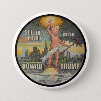 Bóton Redondo 7.62cm Veja a luz com Donald Trump