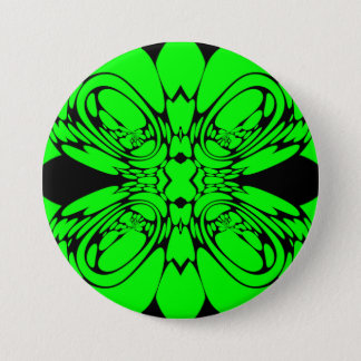 Bóton Redondo 7.62cm Verde do néon