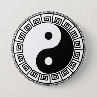 Bóton Redondo 7.62cm Yin Yang grande, botão redondo de 3 polegadas