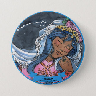 Bóton Redondo 7.62cm Zodíaco de Lolita