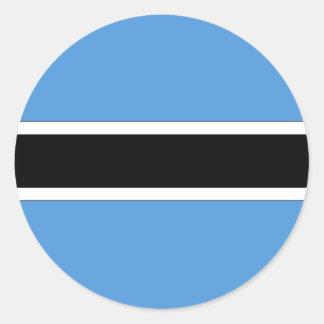 Botswana Adesivo Redondo