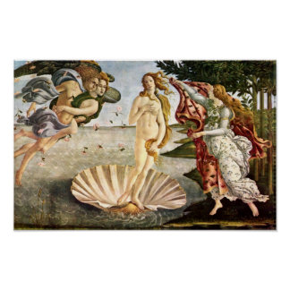 Botticelli-Nascimento de Sandro de Venus Pôster