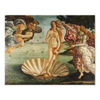 Botticelli o nascimento de convites de Venus