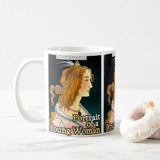 Botticelli, retrato de uma caneca da mulher