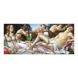 Botticelli Venus e convites de Marte