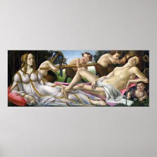Botticelli Venus e poster de Marte Pôster