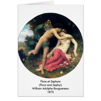 Bouguereau - Flore e Zephyre Cartão Comemorativo