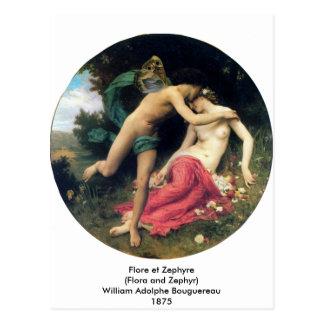 Bouguereau - Flore e Zephyre Cartão Postal