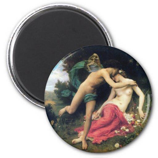 Bouguereau - Flore e Zephyre Imã De Geladeira
