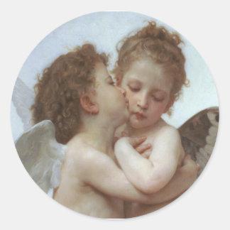 Bouguereau - pintura bonita do anjo adesivo