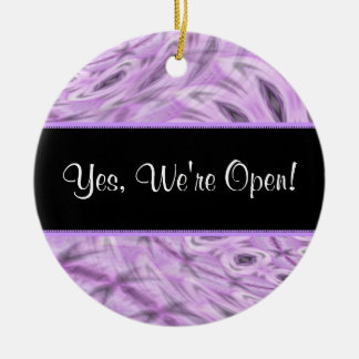 Boutique aberto/ornamento fechado do ~ do sinal ornamento de cerâmica redondo