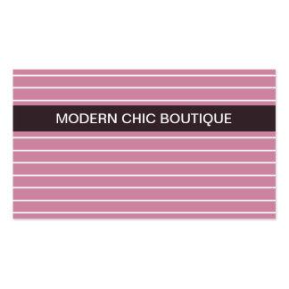 Boutique cor-de-rosa fino chique moderno da forma cartão de visita