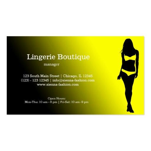 Boutique da lingerie cartao de visita