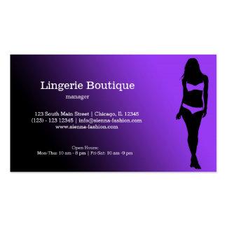 Boutique da lingerie cartoes de visitas