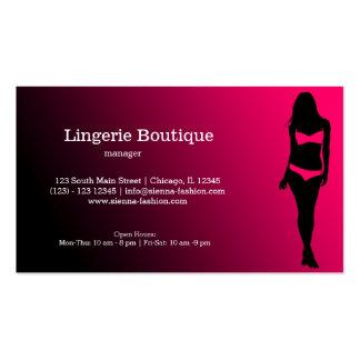 Boutique da lingerie modelo cartoes de visitas
