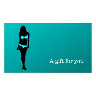 Boutique da lingerie do certificado de presente modelo cartoes de visita