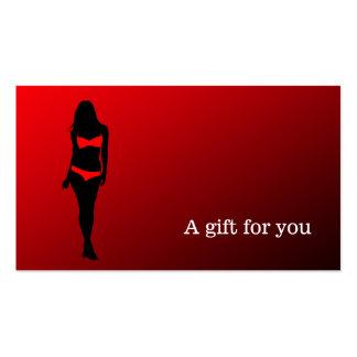 Boutique da lingerie do certificado de presente modelo cartões de visitas