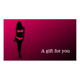 Boutique da lingerie do certificado de presente cartão de visita