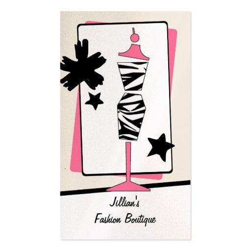 Boutique da loja de roupa - formulário do vestido  cartão de visita