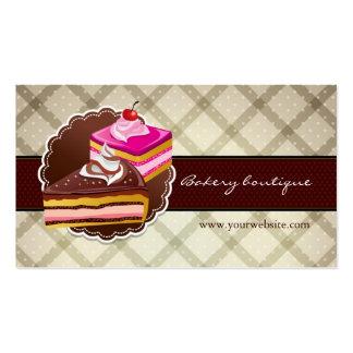 Boutique da padaria ou do bolo cartão de visita