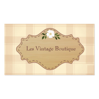 Boutique do vintage do molde do cartão de visita d