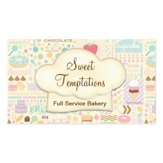 Boutique doce da padaria das tentações cartão de visita