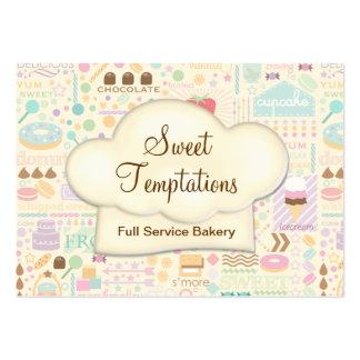 Boutique doce da padaria das tentações cartão de visita grande