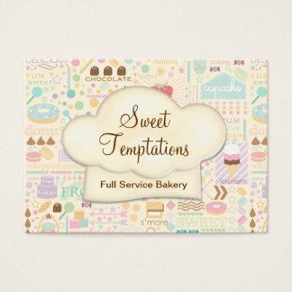 Boutique doce da padaria das tentações cartão de visitas