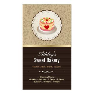 Boutique doce da padaria - pastelaria da geléia do cartão de visita