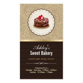 Boutique doce da padaria - pastelaria dos cartão de visita