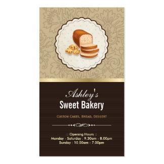 Boutique doce da padaria - sobremesa do brinde da cartão de visita