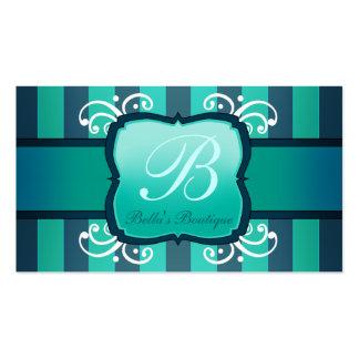 Boutique elegante da decoração da cerceta para cartão de visita