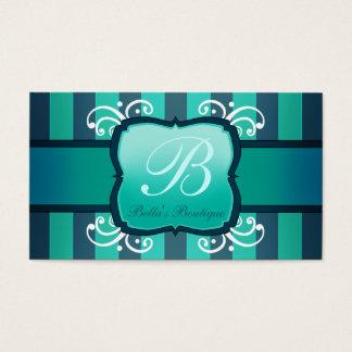 Boutique elegante da decoração da cerceta para cartão de visitas