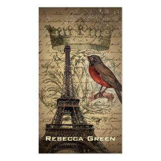 boutique elegante da forma de Paris do vintage Cartão De Visita