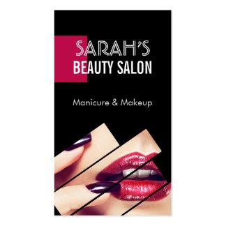 Boutique elegante do salão de beleza dos lábios da cartão de visita