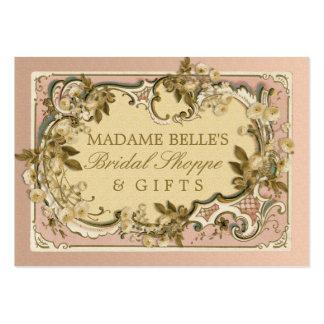 Boutique nupcial dos rosas franceses cor-de-rosa cartão de visita grande