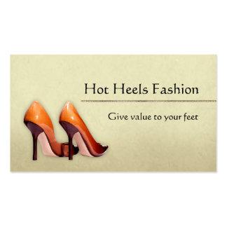 Boutique quente dos calçados cartão de visita