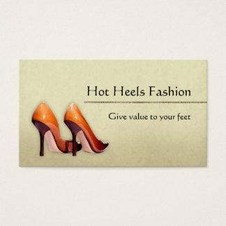 Boutique quente dos calçados cartão de visitas