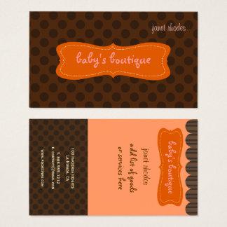 Boutique Sassy, pontos castanho chocolate de Cartão De Visitas